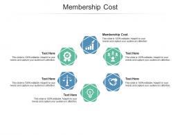 Membership Cost Ppt Powerpoint Presentation Model Ideas Cpb