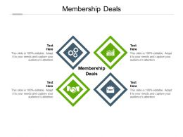 Membership Deals Ppt Powerpoint Presentation Styles Diagrams Cpb