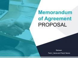 Memorandum Of Agreement Proposal Powerpoint Presentation Slides