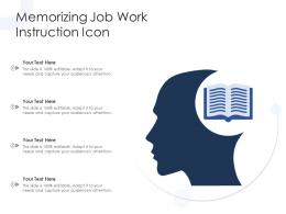 Memorizing Job Work Instruction Icon