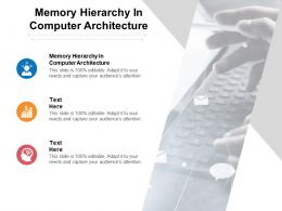 Memory Hierarchy In Computer Architecture Ppt Powerpoint Presentation Outline Portrait Cpb