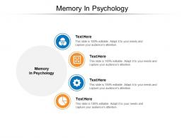 Memory In Psychology Ppt Powerpoint Presentation Infographics Templates Cpb