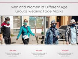 Men And Women Of Different Age Groups Wearing Face Masks