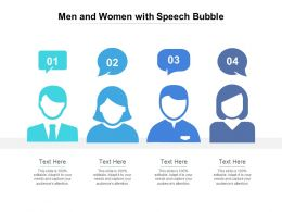 Men And Women With Speech Bubble