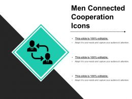Men Connected Cooperation Icons Ppt Presentation