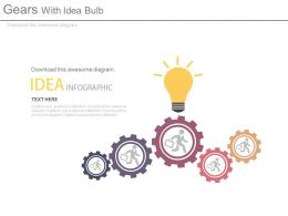 Men Inside Gears With Idea Bulb Idea Generation Process Control Powerpoint Slides