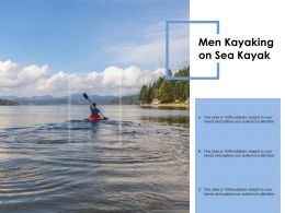 Men Kayaking On Sea Kayak