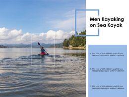 Men Kayaking On Sea Kayak