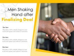 Men Shaking Hand After Finalizing Deal