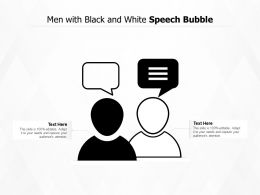 Men With Black And White Speech Bubble