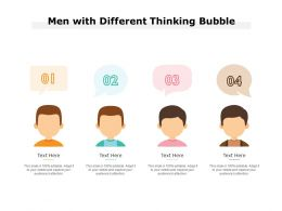 Men With Different Thinking Bubble