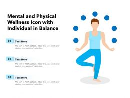Mental And Physical Wellness Icon With Individual In Balance