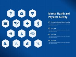 Mental Health And Physical Activity Ppt Powerpoint Presentation Professional Sample
