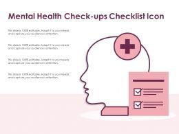 Mental Health Check Ups Checklist Icon