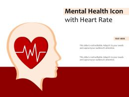 Mental Health Icon With Heart Rate