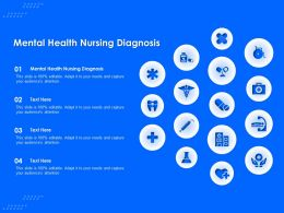 Mental Health Nursing Diagnosis Ppt Powerpoint Presentation Slides Visual Aids