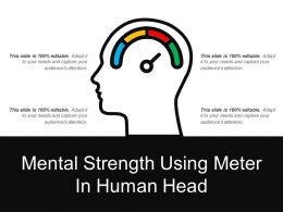 Mental Strength Using Meter In Human Head