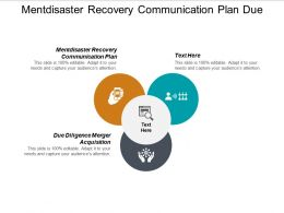 Mentdisaster Recovery Communication Plan Due Diligence Merger Acquisition Cpb