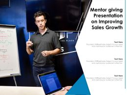 Mentor Giving Presentation On Improving Sales Growth