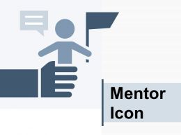 Mentor Icon Having Presentation Stairs Flag Arrow Stick Figures
