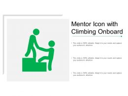 Mentor Icon With Climbing Onboard