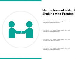Mentor Icon With Hand Shaking With Protege