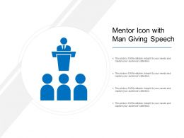 Mentor Icon With Man Giving Speech