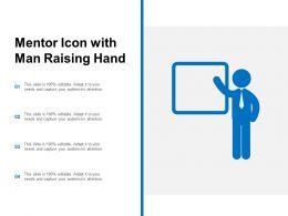 Mentor Icon With Man Raising Han