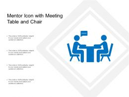 Mentor Icon With Meeting Table And Chair