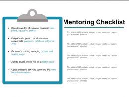 Mentoring Checklist