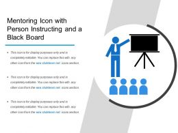 Mentoring Icon With Person Instructing And A Black Board