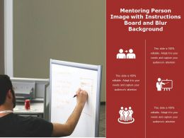 Mentoring Person Image With Instructions Board And Blur Background