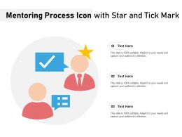Mentoring Process Icon With Star And Tick Mark