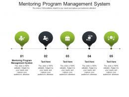 Mentoring Program Management System Ppt Powerpoint Presentation Gallery Cpb