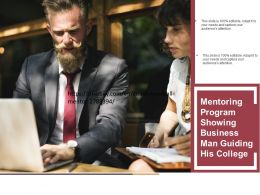 Mentoring Program Showing Business Man Guiding His College