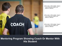 Mentoring Program Showing Coach Or Mentor With His Student