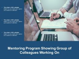 Mentoring Program Showing Group Of Colleagues Working On