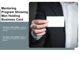 Mentoring Program Showing Man Holding Business Card
