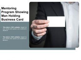 Mentoring Program Showing Man Holding Business Card