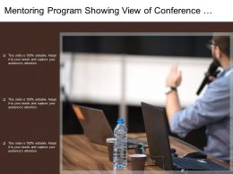Mentoring Program Showing View Of Conference Hall With Man Addressing The Audience