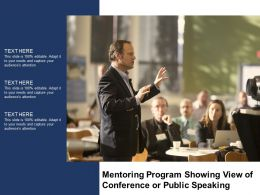 Mentoring Program Showing View Of Conference Or Public Speaking