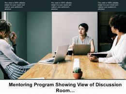 Mentoring Program Showing View Of Discussion Room With Group Of People