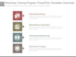Mentoring Training Program Powerpoint Templates Download