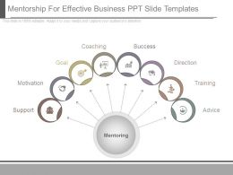 Mentorship For Effective Business Ppt Slide Templates