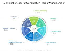 Menu Of Services For Construction Project Management