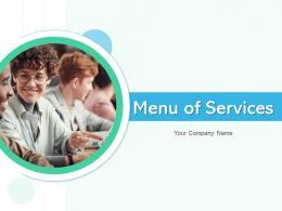 Menu Of Services Marketing Service Education Service Project Management