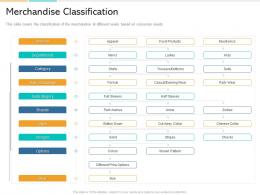Merchandise Classification In Store Marketing Ppt Powerpoint Presentation Inspiration Layouts
