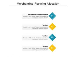 Merchandise Planning Allocation Ppt Powerpoint Presentation Pictures Aids Cpb