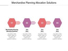 Merchandise Planning Allocation Solutions Ppt Powerpoint Presentation Portfolio Graphics Tutorials Cpb