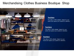 Merchandising Clothes Business Boutique Shop
